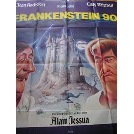 """Eddy Mitchell affiche de cinéma """"Frankenstein 90"""" 1,60x1,20m"""
