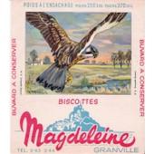 Buvard Biscottes Magdeleine Granville - Le Faucon (Crecerelle)
