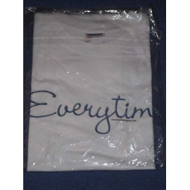 """Britney Spears """"Everytime"""" - unisexe - T-shirt blanc taille L"""