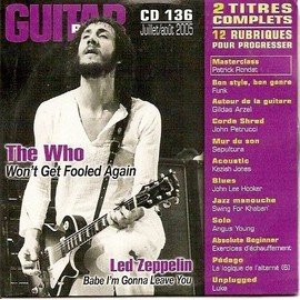 THE WHO - LED ZEPPELIN - CD 136 GUITAR PART - JUILLET 2005