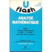 Analyse Math�matique - N� 1 - Analyse Math�matique - Deug Sciences �conomiques Et Aes de Fredon, Daniel