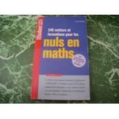 240 M�tiers Et Formations Pour Les Nuls En Maths de Kader Bengriba