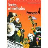Textes Et Methodes Francais 4eme de Marie-France Sculfort