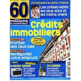 credit immobilier 60 millions consommateur