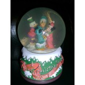Mickey Minnie Donald Picsou Noel No�l Christmas - Boule � Neige Musical