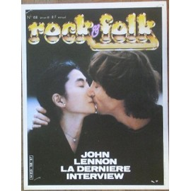 John Lennon affiche 40cm X 30 cm promo pour Rock and folk