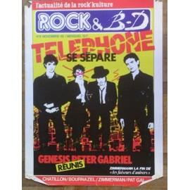 Telephone affiche 40cm X 30 cm promo pour ROCK ET BD