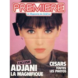ISABELLE ADJANI / PLV cartonnée / PREMIERE / 1984