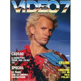 STING / POLICE / PLV cartonnée VIDEO 7 / Janvier 1986.