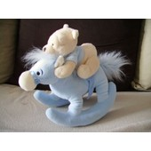 Peluche Winnie L'ourson Sur Son Cheval � Bascule Musical