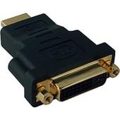 adaptateur HDMI male � DVI-I-femelle or