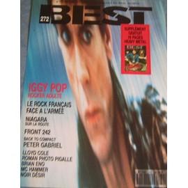 Iggy Pop Affichette Promo 30x40cm pour le mag BEST
