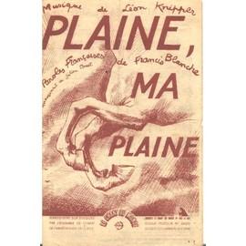 Plaine, ma plaine
