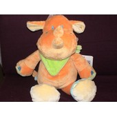 Doudou Rhinoceros Kiabi Jollybaby Orange