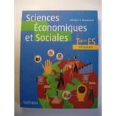 Sciences Economiques Et Sociales Terminale Es - Livre Du Professeur de Nathan