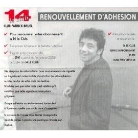 PATRICK BRUEL RENOUVELLEMENT D'ADHESION