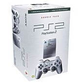 Sony Bi-Pack Playstation 2 - Manette Analogique Dualshock Silver Et Carte M�moire Silver 8 Mo