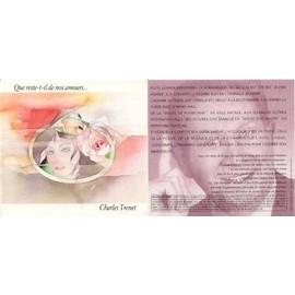 CHARLES TRENET CARTE POSTALE POEME 2 VOLET 17X16CM QUE RESTE-T-IL DE NOS AMOURS