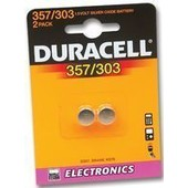 Duracell 357/303 2 Piles Rondes 1.5 V /D357h