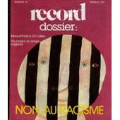 Record Dossier N� 31 : Non Au Racisme