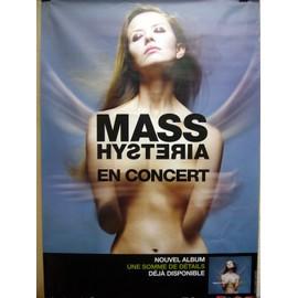 MASS HYSTERIA 2007. AFFICHE OFFICIELLE CONCERT 70 X 100 CM