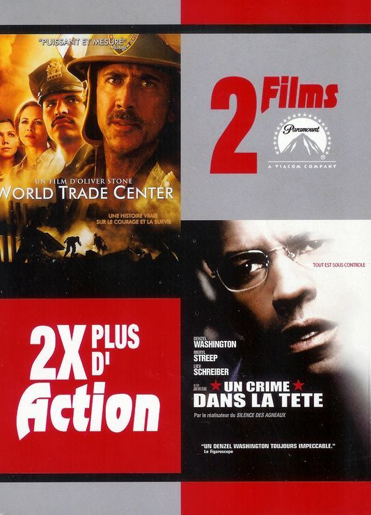 World Trade Center + Un crime dans la tête Coffret 2 DVD