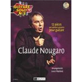 NOUGARO CLAUDE : GUITARE SOLO N° 3 (guitare solfège + tablatures)