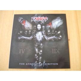 EXODUS the atrocity exhibition (promo sticker)