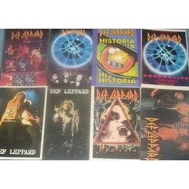 Def Leppard 8 cartes postales rare