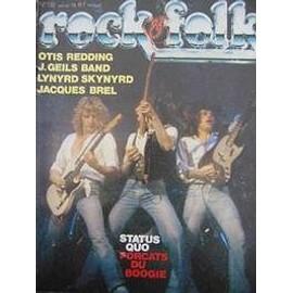 Rock And Folk N� 132 : Statu Quo For�ats Du Boogie, Otis Redding, Jacques Brel