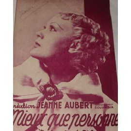 Mieux que personne (Tango) 1938