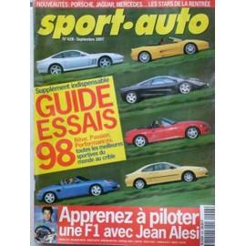Sport Auto N� 428 : Guide Essais 98. > Apprenez � Conduire Une F1 Avec Jean Alesi.