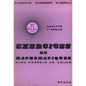Exercices De Math�matiques - N� 1 - Analyse de Azoulay �lie