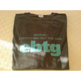 "Everything But The Girl (EBTG) - sweat noir ""missing"" - taille XL - 100 % coton"