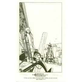 Pellerin - Carte De Visite De La Librairie Excalibulle À Brest Illustrée Par Un Dessin De Patrice Pellerin. Dedicacée Et Numérotée.- AFFICHES