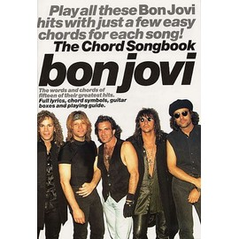 Bon Jovi Chord Songbook - Paroles (uniquement) + accords clavier/guitare