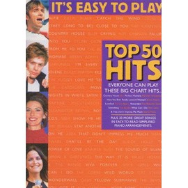 It's Easy To Play Top 50 Hits Book 4 Piano, Vocal & Guitar (with Chord Boxes)