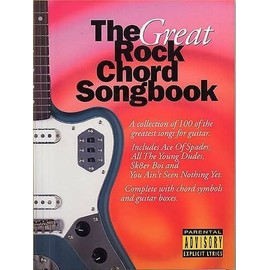 The Great Rock Chord Songbook Lyrics and Chord boxes (Paroles et Boites d'accord)