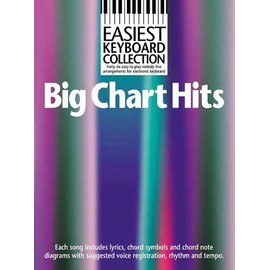 Easiest Keyboard Collection: Big Chart Hits Melody line with lyrics and chord symbols and boxes - Paroles (uniquement) + accords clavier/guitare