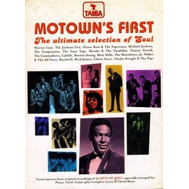 Motown's First - The Ultimate selection of Soul Piano, chant, guitare (grilles d'accords)