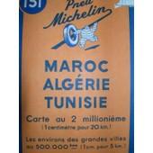 Carte Michelin Maroc, Alg�rie, Tunisie N� 151 de michelin