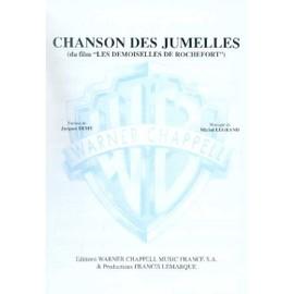 Chanson des Jumelles (du film Les Demoiselles de Rochefort) Chant,  Piano / Vocal,  Piano / Voce,  Pianoforte / Canto,  Piano