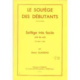 Solfege des Debutants Volume 1 - Cle de Sol