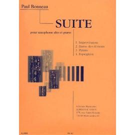 Suite pour saxophone alto,  ou trompette,  ou clarinette,  ou cornet,  ou bugle et orchestre Réduction Piano - Saxophone en Mib et Piano