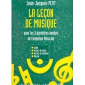 La Le�on De Musique 1�re Et 2�me Ann�es