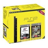 Sony Playstation 2 Pstwo New Design Noire + Gran Turismo 4 + Gta San Andreas