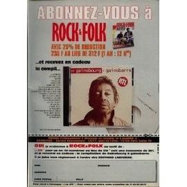 SERGE GAINSBOURG PUBLICITE Du Magazine Rock'n'folk. 1994