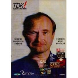 PHIL COLLINS PUBLICITE TDK Du Magazine Rock'n'folk 1995