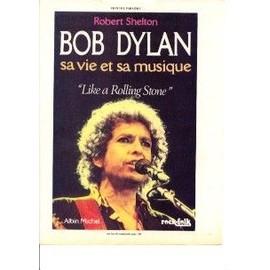 BOB DYLAN PUBLICITE Du Magazine Rock'n'folk. SON LIVRE SA VIE ET SA MUSIQUE 1987