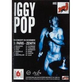 IGGY POP PUBLICITE DU MAGAZINE ROCK'N'FOLK CONCERT 1993